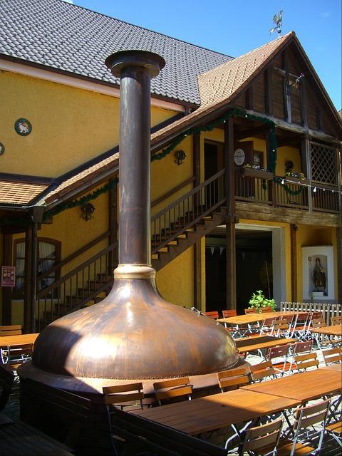 Free beer garden courtyard sudpfanne copper nesselwang