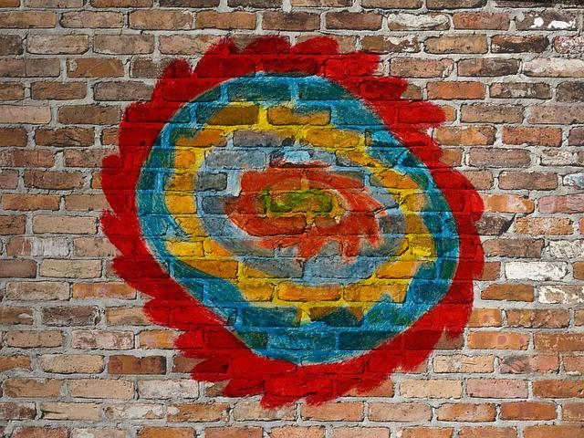 Free graffiti wall colorful creativity district