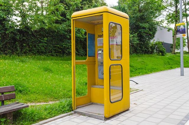 Free phone booth dispensary phone emergency call yellow