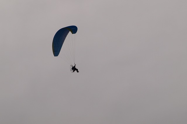 Free paraglider paragliding fly flight glide cloudiness