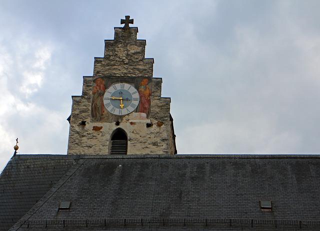 Free church clock clock tower historically church