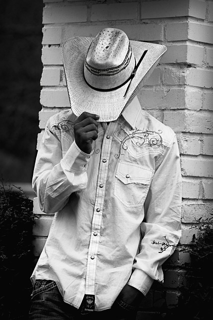 Free cowboy western country hat man standing male