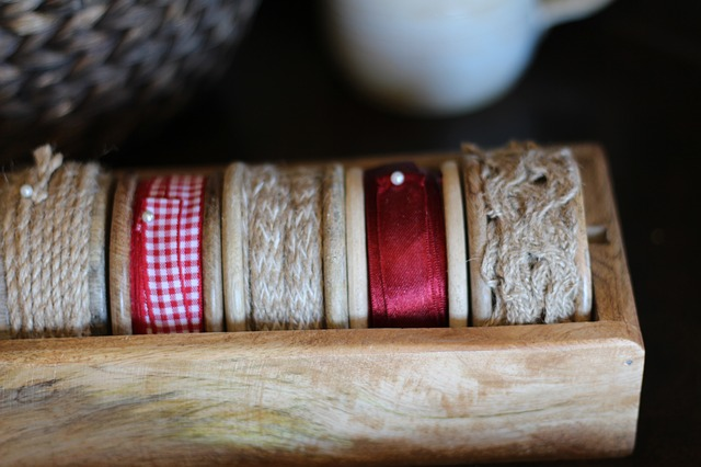 Free thread yarns ribbons spools trimming crafts