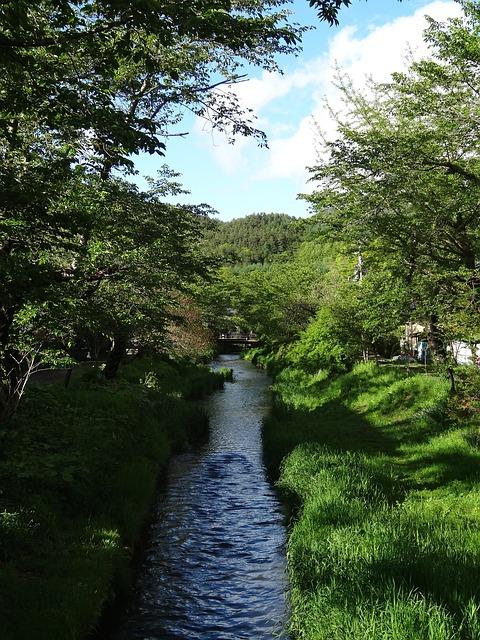 Free oshino hakkai river clear stream fuji