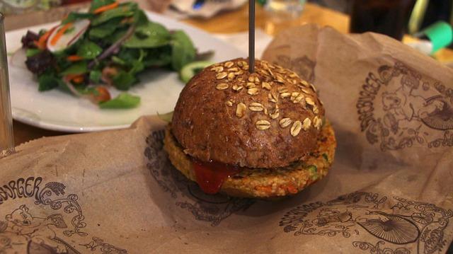 Free burger veggie salad