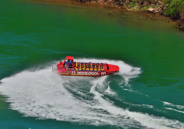 Free jet boat reverse turn niagara river speedy action