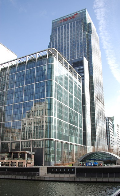 Free docklands canary wharf offices business skyscraper