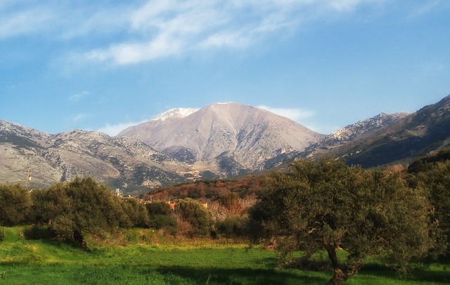 Free crete landscape scenic mountains forest trees