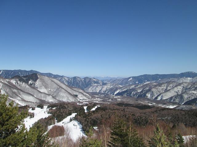 Free nagano japan snowy mountains landscape