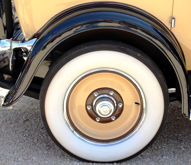 Free auto oldtimer cadillac wheel white wall tires