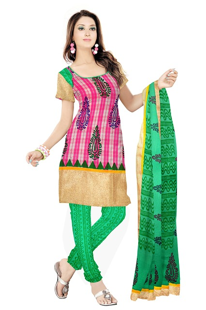 Free indian clothing fashion silk dress woman model