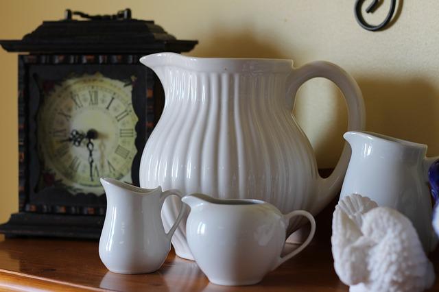 Free white pottery vase pitchers pitcher