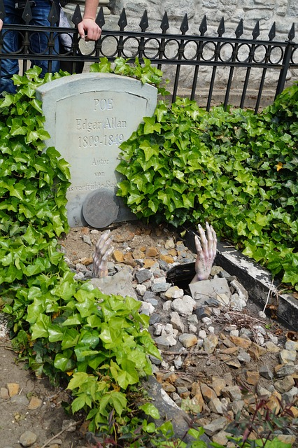 Free edgar allan poe grave hand tomb dead writer