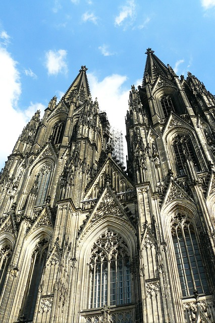 Free cologne cathedral dom church facade architecture