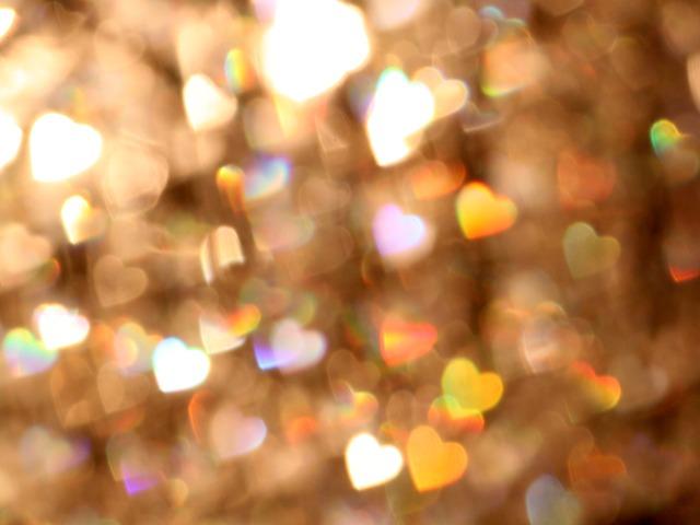 Free bokeh blur lights background hearts shine glitter