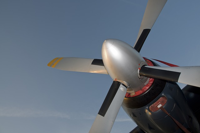 Free propeller aircraft fly flight aviation