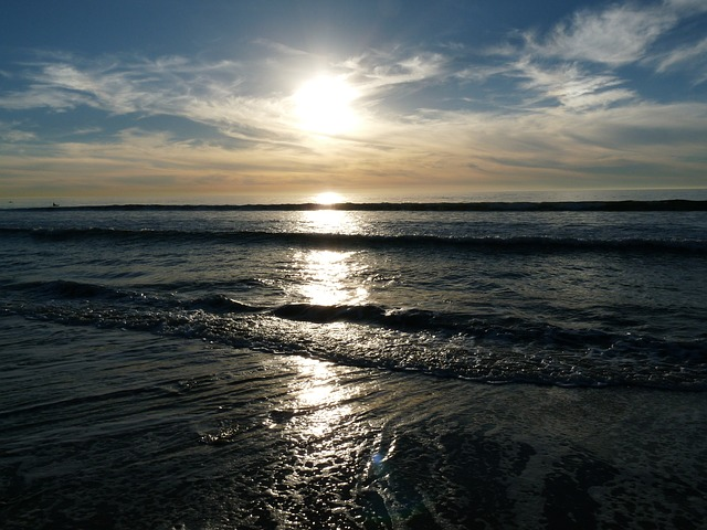 Free carlsbad california beach seaside sunset ocean