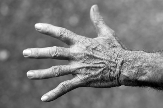 Free Photos:                hand elderly woman wrinkles black and white | iris Vallejo