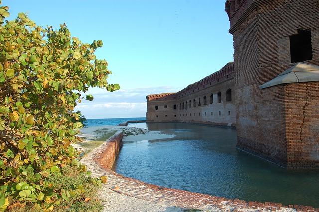 Free fort jefferson water island bricks wall outside