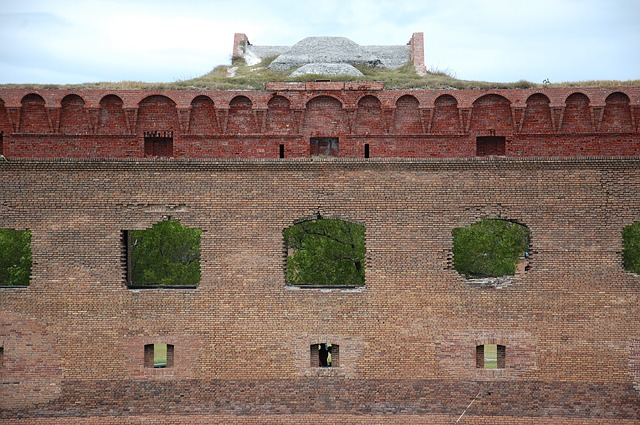 Free fort jefferson bricks wall outside