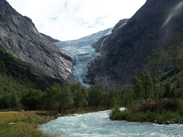 Free glacier norway landscape