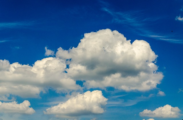 Free clouds sky blue white background nature