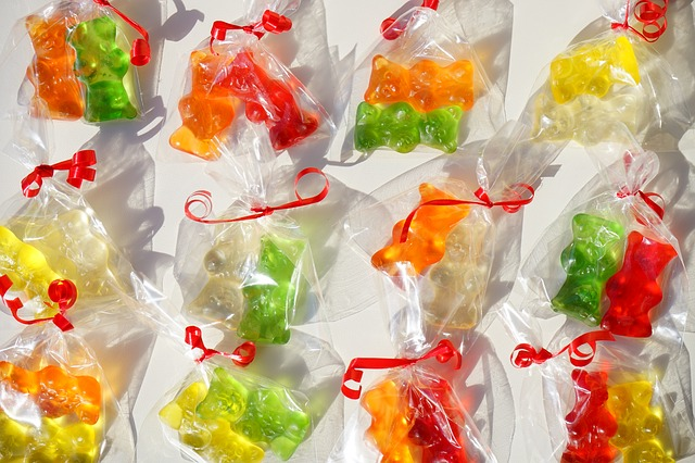 Free Photos: Gold bears haribo packed gummi bears sachets | Hans Braxmeier