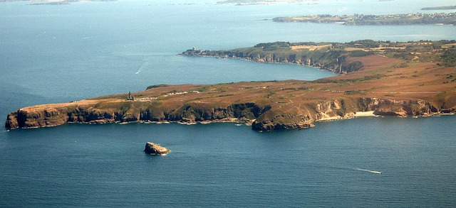 Free cap fréhel brittany aerial view sea