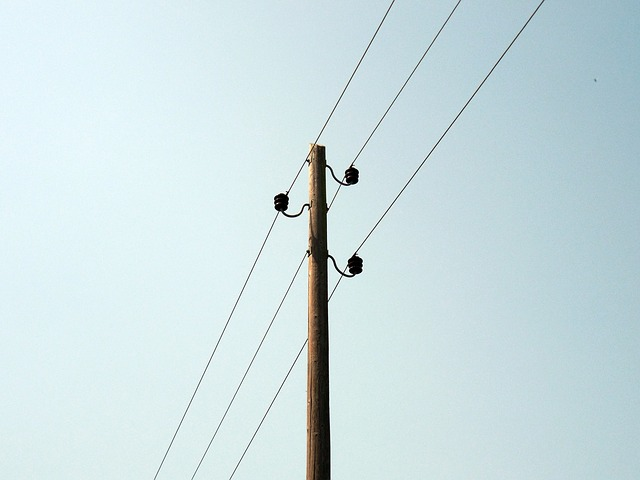 Free line power line power poles mast phone