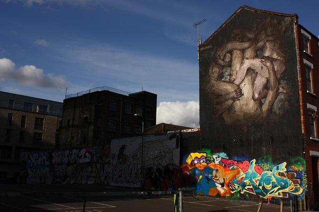 Free london brick lane city graffiti architecture wall