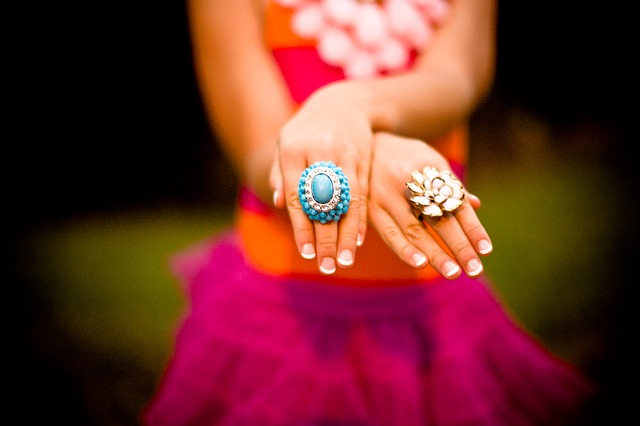 Free woman girl jewelry rings hands arms showing