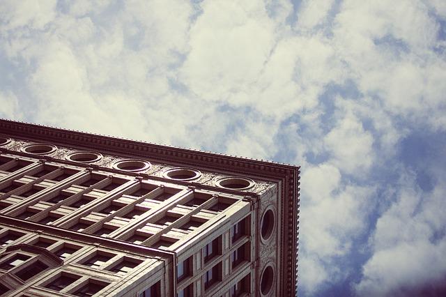 Free building corner cube rectangular sky architecture
