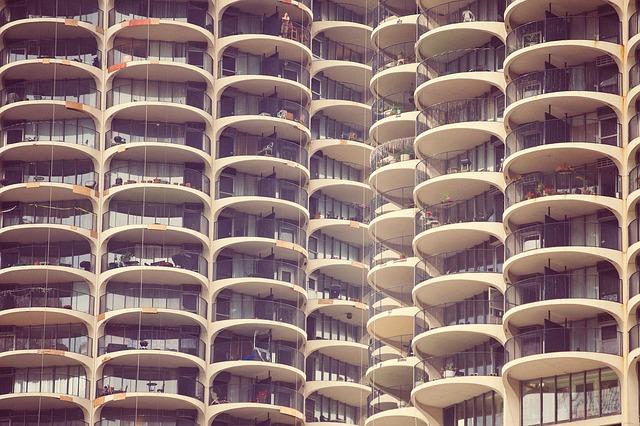 Free balconies hotel resort building flats apartments