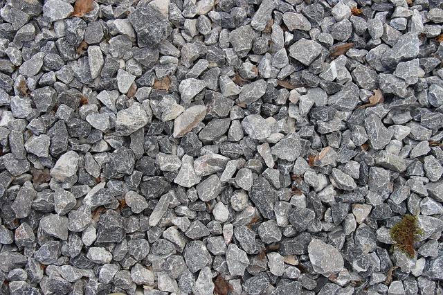 Free gravel stones pebbles boulder rock grey ground