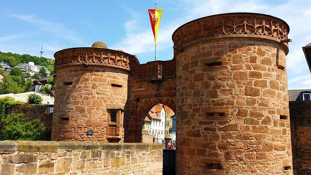 Free büdingen jerusalem gate fortress city wall old town