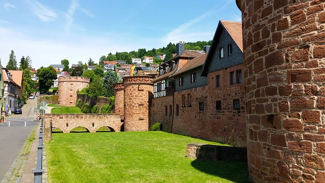 Free büdingen fortress city wall old town bulwark