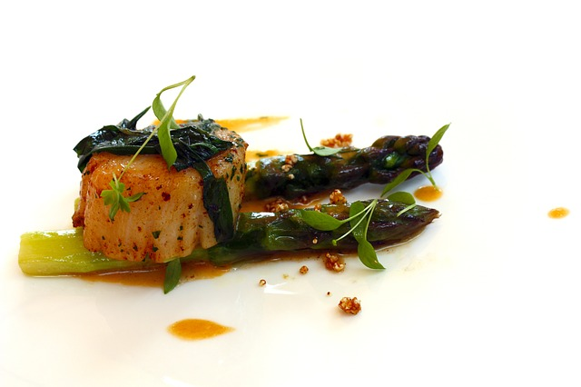 Free asparagus food appetizer kitchen fish scallop