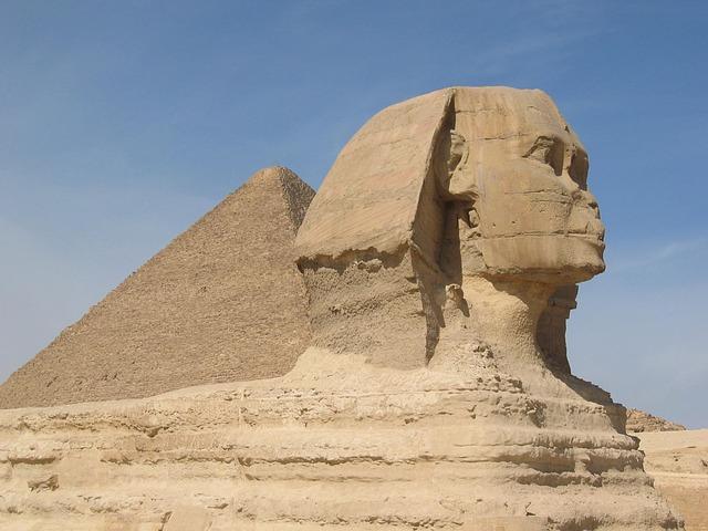 Free sphinx pyramids historic egypt cairo archeology