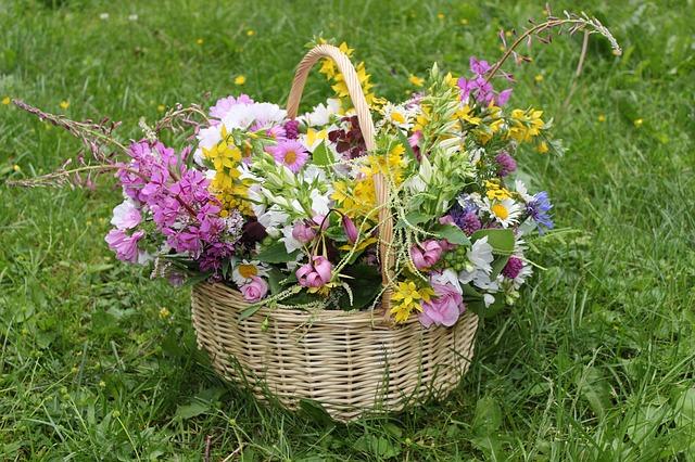 Free bouquet flowers basket gift summer joy