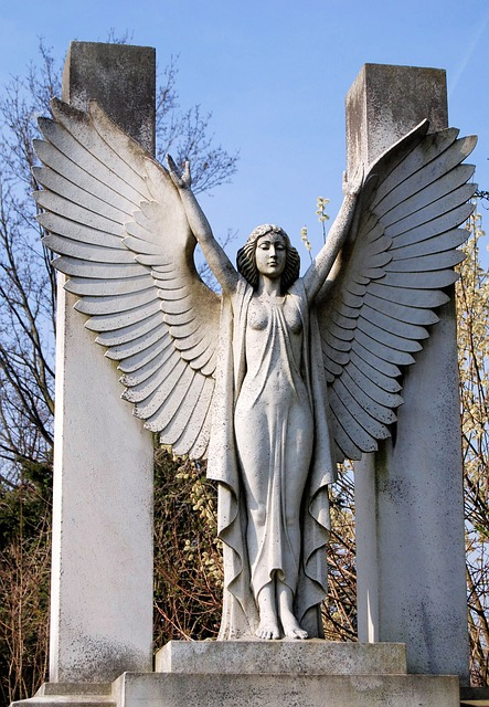 Free cemetery tombstone grave sculpture monument female