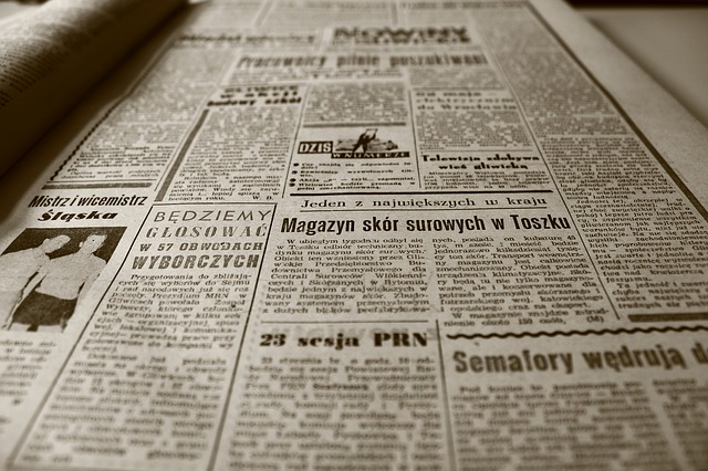 Free old newspaper newspaper the 1960s retro sepia old