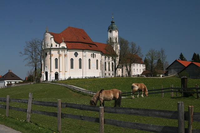 Free pilgrimage church of wies steingaden pfaffenwinkel