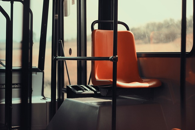 Free seat public transport bus vehicle interior