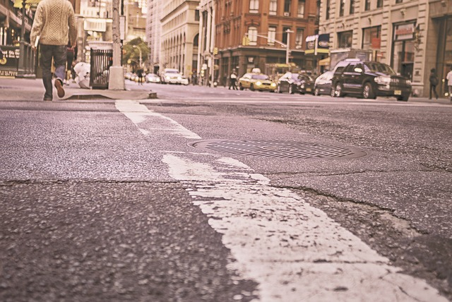 Free urban road street new york pavement concrete