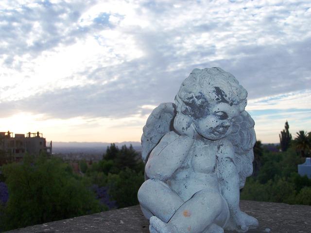 Free angel sunset sculpture landscape baby cloud