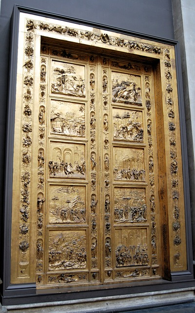 Free doors closed paneled carved architectural