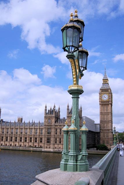 Free westminster big ben streetlight clock historic