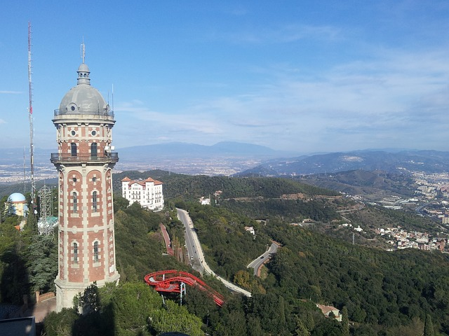 Free barcelona tibidabo city catalonia road