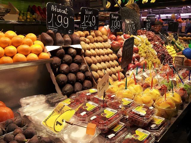 Free market boqueria barcelona city catalonia