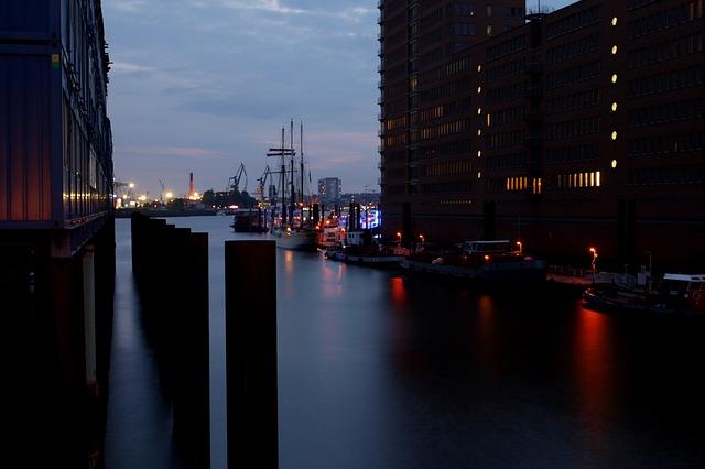 Free hamburg ship port city elbe port